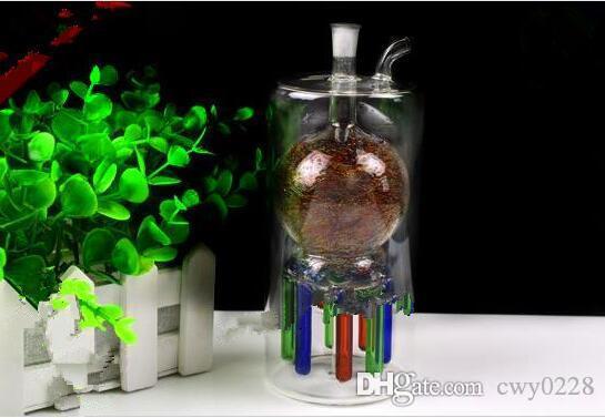 Pastilles de narguilé multi griffe sous couleur Bongs de verre en gros Brûleur à mazout Tuyaux d'eau en verre Plateaux d'essence sans fumée
