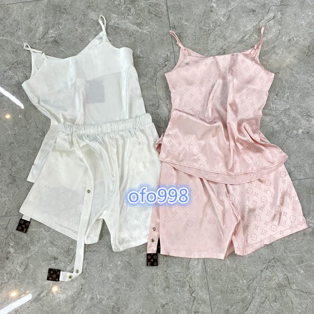 High-End-Frauen Mädchen Satz T-Shirt mit V-Ausschnitt Leibchen Ärmel bedeckt Monogramm Buchstabedruckes übersteigen Blusen-T-Shirt Mini Shorts Hosen Mode Anzug