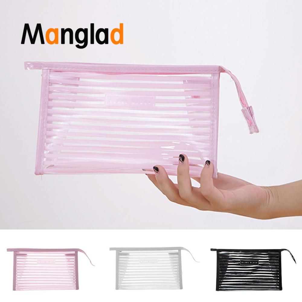 Toiletry Bag Cosmetic Make Up Plastic Clear Bag Waterproof Cosmetic Portable Travel Wash Pouch Organizer Compliant Storage Bags