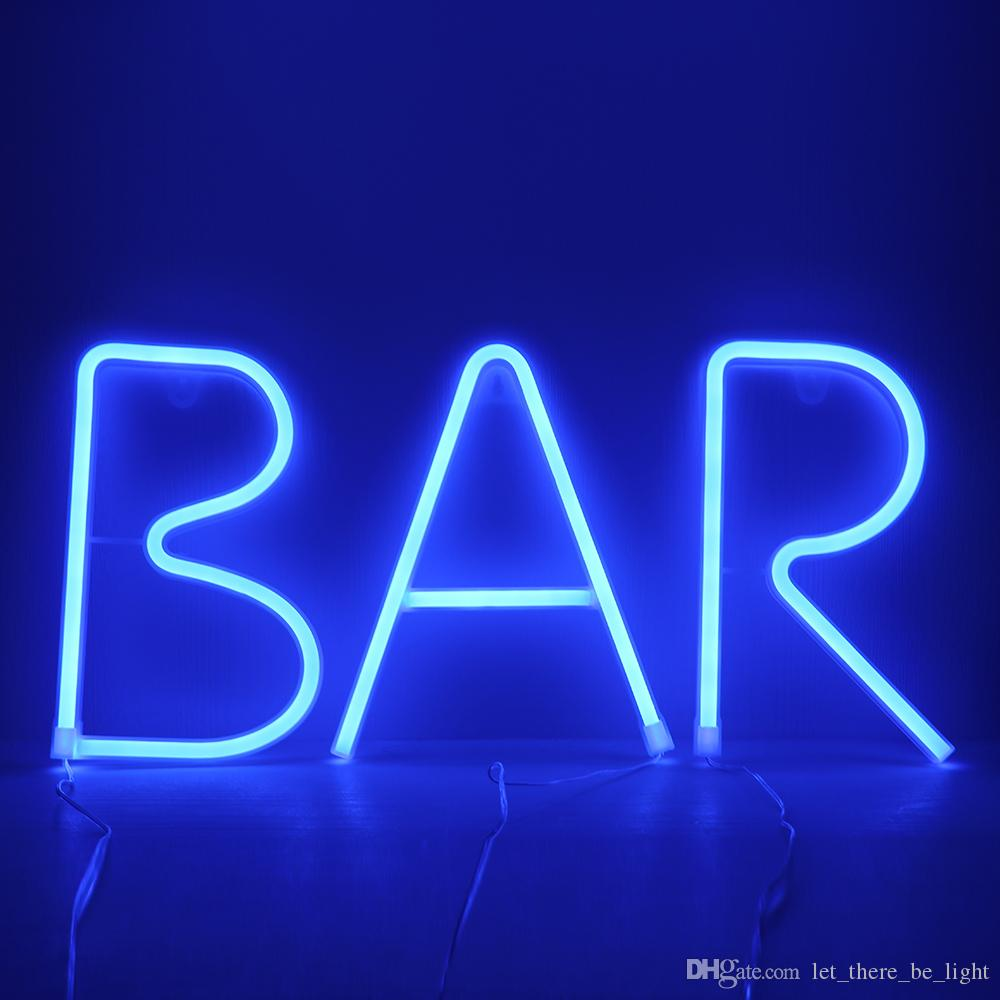 Led Blue Neon Sign Neon Light Holiday Xmas Party Wedding Decor Night Lamp Bar Home Wall Decor 26 Letters Numerals Light Up Signs Bedroom Decoration Bedroom Interior Design From Let There Be Light 14 08 Dhgate Com
