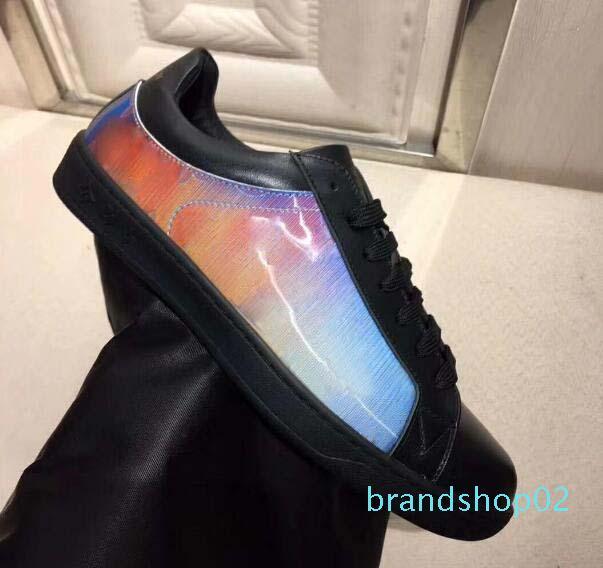 Calzados informales de la zapatilla de deporte fastlane Monogram Denim diseñador de lujo de los hombres atan para arriba las zapatillas de deporte para hombre de la moda Formadores diseñador al aire libre de los zapatos ocasionales UU10