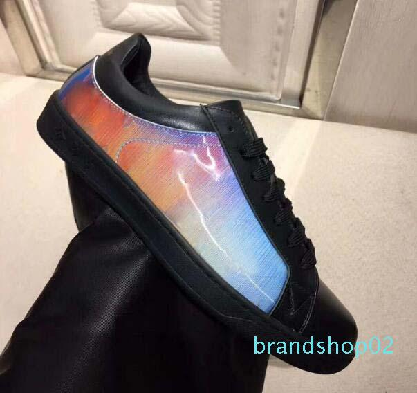 Fastlane chaussures espadrille Denim Monogram design de luxe Hommes lacent Chaussures Mode Hommes Baskets Designer Outdoor Chaussures Casual UU10