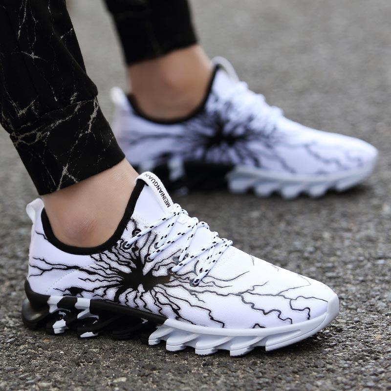 hommes en plein air hommes occasionnels été Hundunsnake et des femmes de chaussures de course à pied chaussures de fitness blanc A-187 hommes