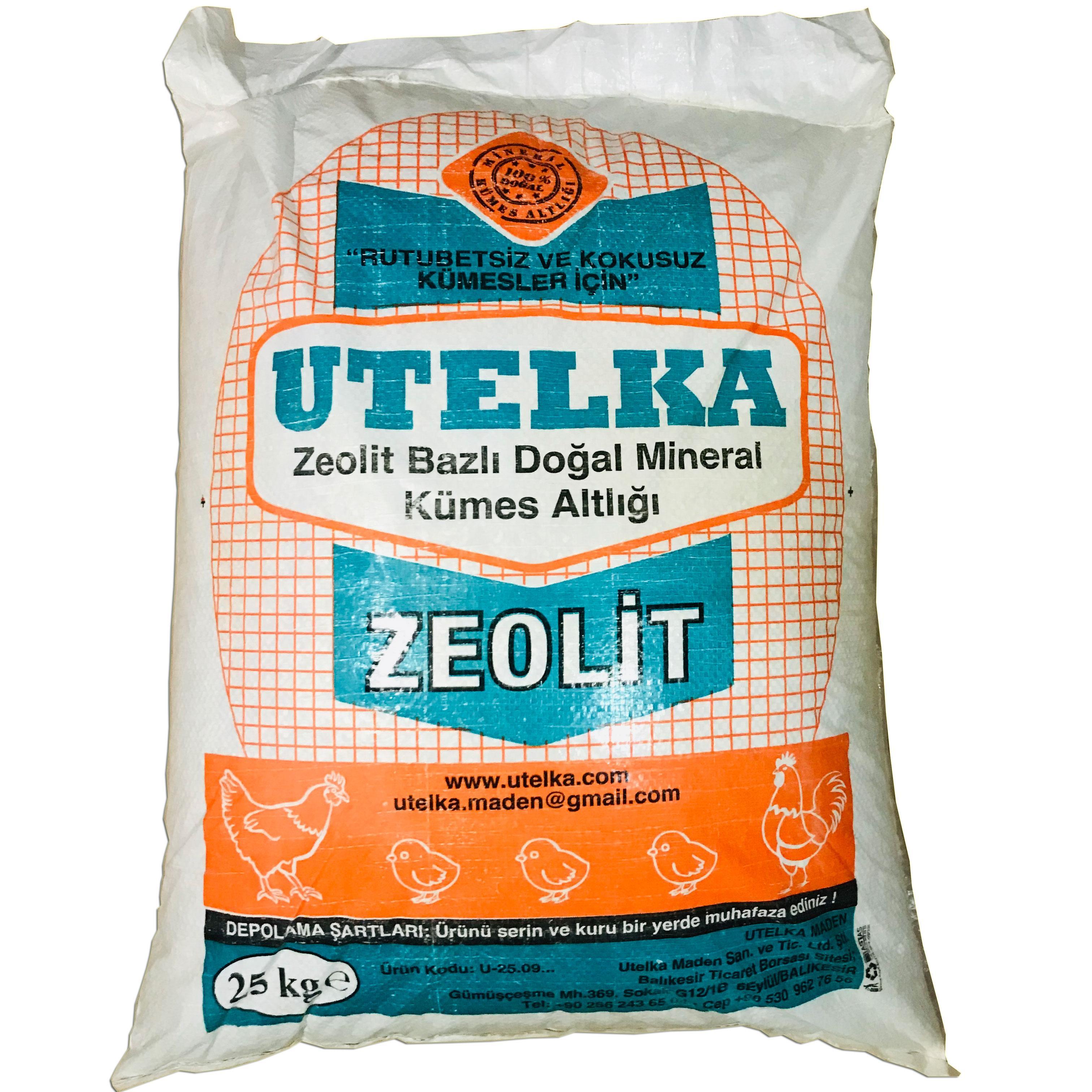 Utelka Zeolit Sheep Cow frango base de coop 25 KG 0-3mm Pet Shop Início Jardim