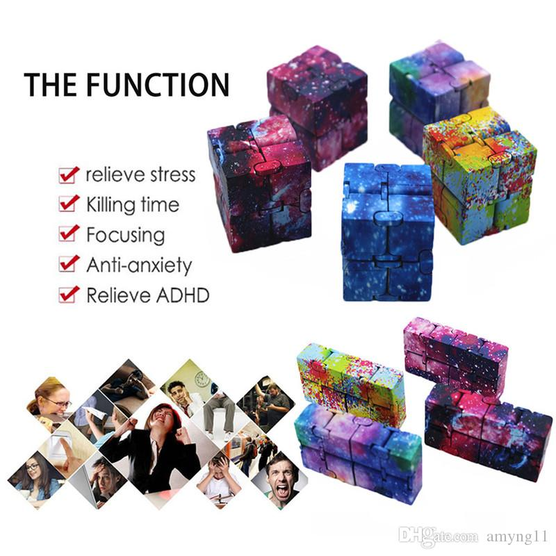 Infinity Cube Stress Relief Fidget Anti Anxiety EDC ADD ADHD Magic Puzzle Toy YP