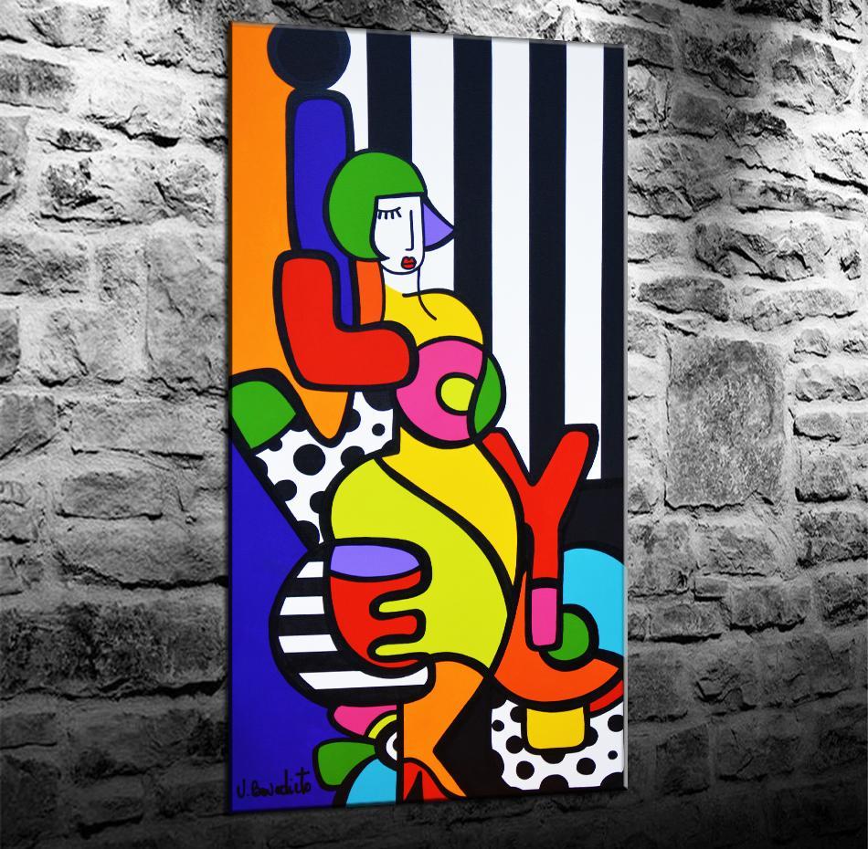 Romero Britto Virginia Benedicto Artwork, HD Impresión de lienzos Nueva decoración del hogar Arte Pintura / (Sin marco / Enmarcado)