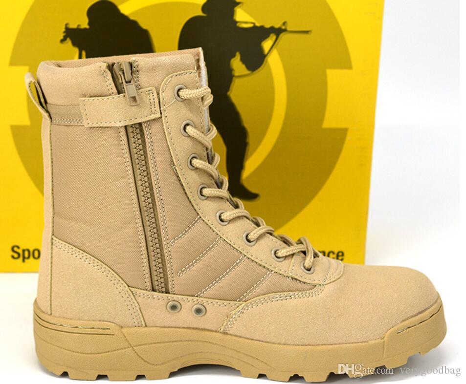 في الهواء الطلق التكتيكية أحذية الرجال السامية للمساعدة في الصحراء الجيش فان أحذية سريع زيبر التكتيكية حذاء أسود الأمن تنفس مكافحة الميدان