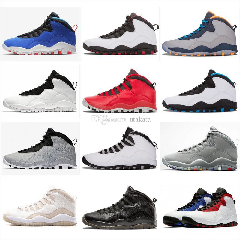 Jumpman 10 Tinker الأسمنت Westbrook فئة 2006 im رجوع بارد رمادي الرجال النساء أحذية كرة السلة أحذية رياضية 10s × الأحذية الرياضية.
