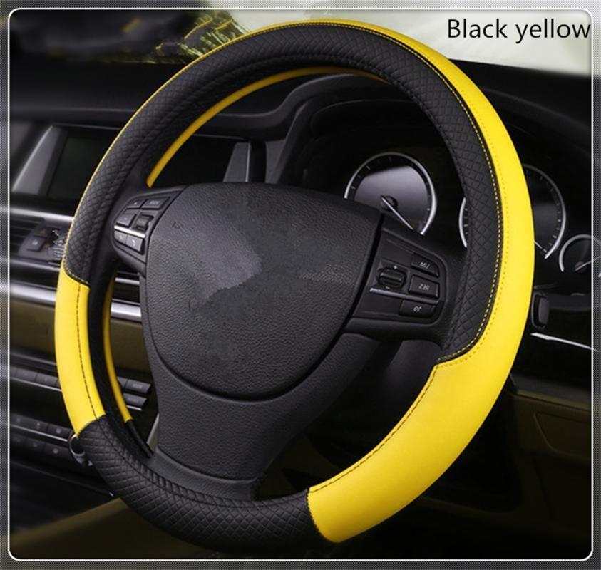 High quality 37-38 cm diameter car parts steering wheel cover for 545i 530xi M5 M2 X6 335d M1 M-Zero M6 640i 640d
