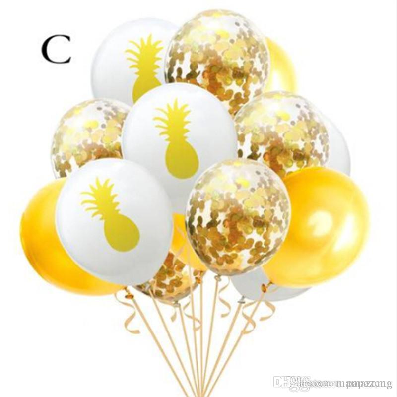 Ventas de envío gratis! 15 Unids Mix Unicorn Rose Gold Sequin Balloon Set Party Decoration Event Party Supplies