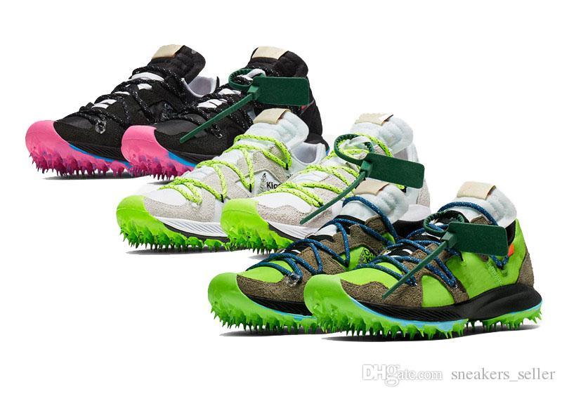 2019 تيرا Kiger أحذية الجري 5 الأسود الوردي الأبيض الكهربائية أخضر أبيض رمادي أخضر الرجال السود إمرأة رياضة حذاء رياضة حجم 36-45