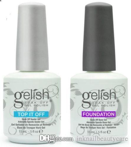 Top Harmony qualità Gelish Soak Off Gel Nail Nail Polish Cappotto del gel di arte lacca Led / UV Base Foundation Top coat