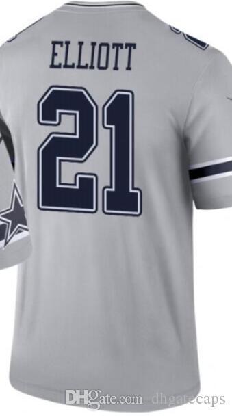 Leyenda invertida versión de los hombres del jersey Dallass 4 19 21 54 55 90 Jersey crea todos los jerseys de fútbol americano Equipos 00