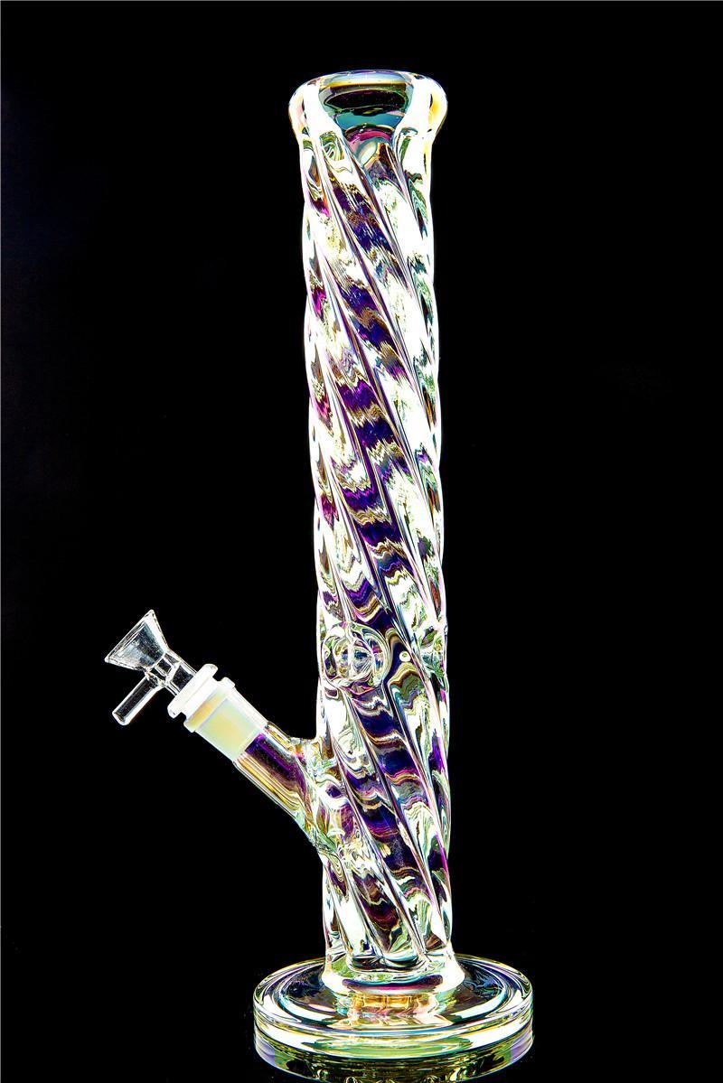 12.8 pulgadas bongs de vidrio de colores espiral vaso de precipitados aparejos DAB tuberías de agua de cristal pipas de agua con recipiente extraíble y downstem