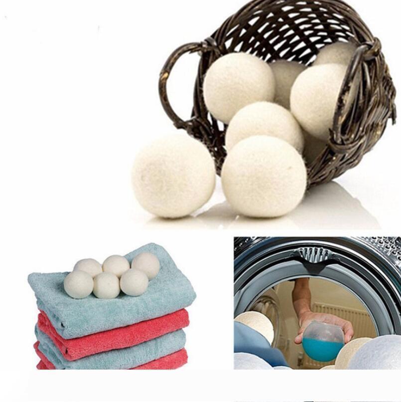 B шарики для сушки шерсти премиум многоразовый натуральный смягчитель ткани 2,75 дюйма статический уменьшает помогает сушить одежду в прачечной быстрее LX5931