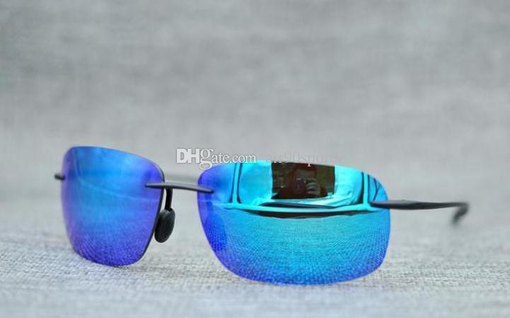 Moda estilo 422 gafas de sol hombres mujeres gafas de sol polarizadas Super ligero con caja caso paño