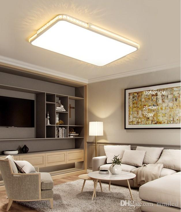 LED crystal ceiling lights Flat panel lamp Remote dimming Modern living room bedroom lights indoor home fixtures free shipping LLFA