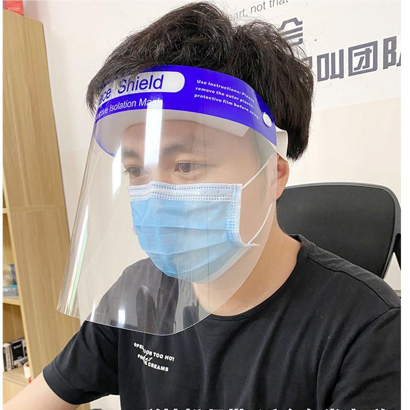Escudo HD Clear Face Aislamiento máscara protectora transparente mascarillas para niños adultos desgaste de la cara llena de ojos Boca protector exterior 330 * 220 mm M1598