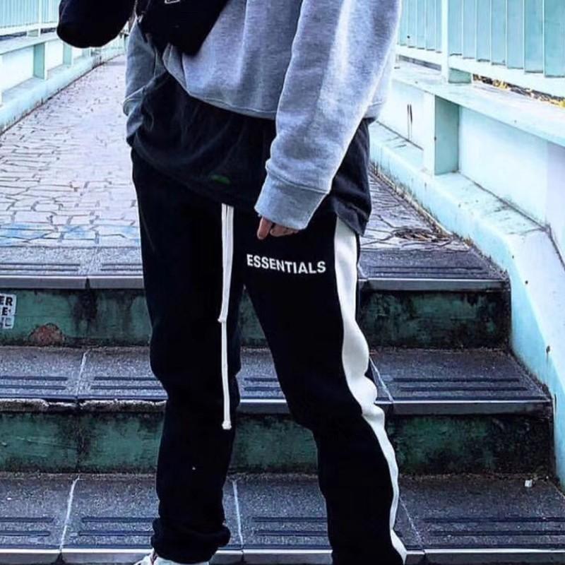 Pantalones Mejor Hip Hop Calle pantalón color de la vendimia Matching empalme pantalones de la manera mujeres de los hombres de deportes al aire libre de fitness HFYMKZ135