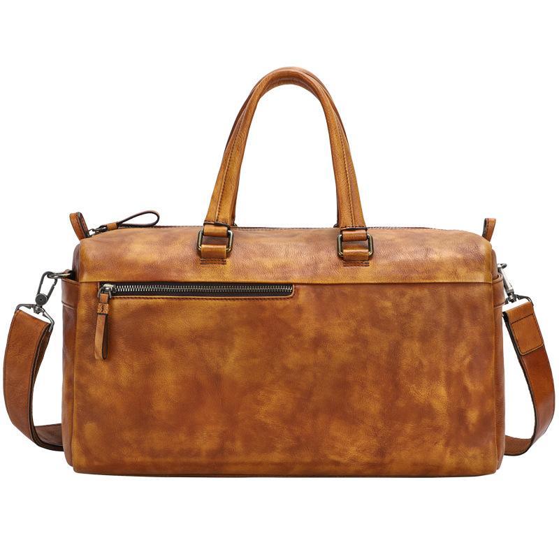 Duffle Big alta qualidade Vintage Couro Bag Homens Malas de Viagem Carry on curso da bagagem sacos Grande Male Weekend Tote Handbag