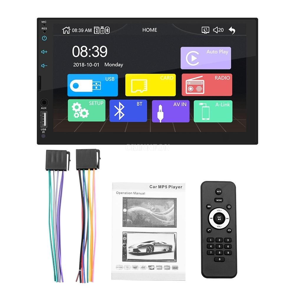 5Pcs/Lot 7'' Full Screen Touch X2 Car Radio MP5 Player Support Real Carplay for Iphone Bluetooth HD Video Play Reverse Camera