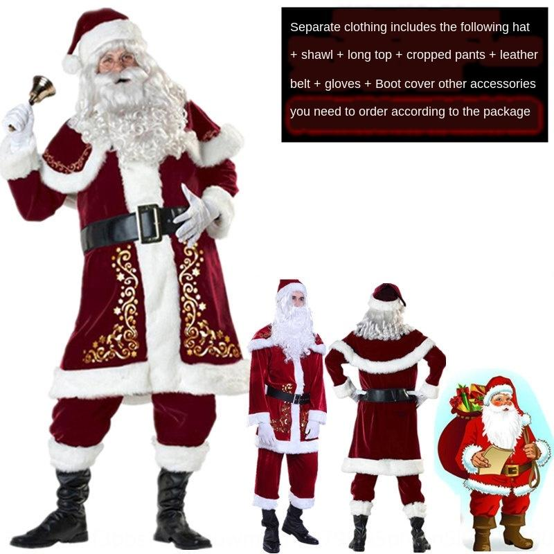 adult men's and women's Santa Claus bar clothing Christmas clothing Couple dress Christmas suit costume couple costume