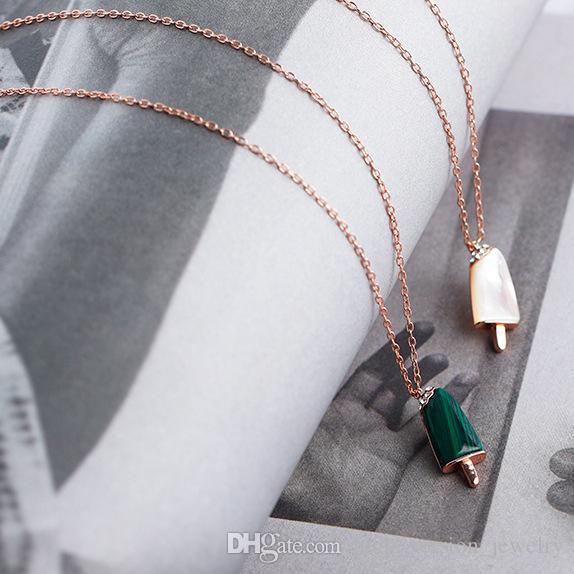 Frau 14k Gold Halskette weibliche Silberkette 925 Eis Achat niedlichen Anhänger Charms Valentinstag Geschenke für Frauen Hochzeit Schmuck