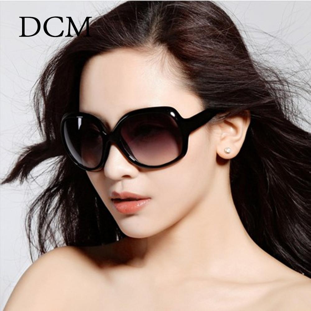 DCM las gafas de marca de diseño clásico de la forma oval Sombras de gran tamaño Gafas de sol de las mujeres UV400