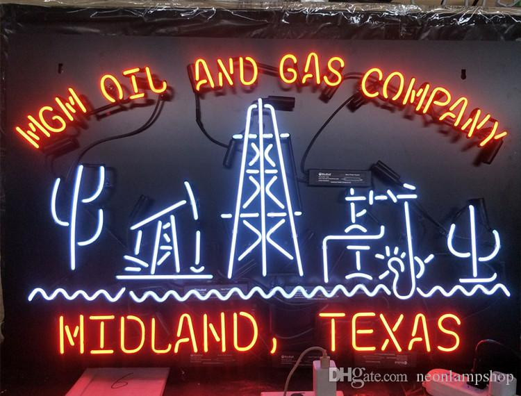 Acrylic Board MGM OIL AND GAS COMPANY Neon Sign Light Wall Advertising Entertainment Decoration Art Display Glass Lamp 17'' 24'' 30''40''