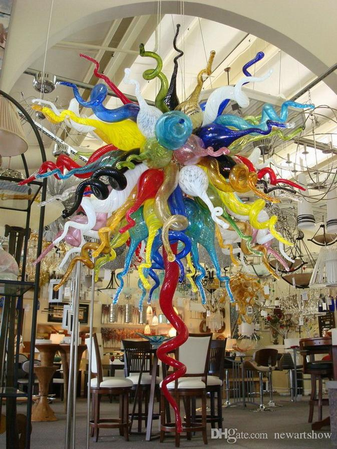 NEW Best Quality Artistic Lamp Murano Glass Chandelier New Arrival Dale Chihuly Multi Colored Pendant Lamps