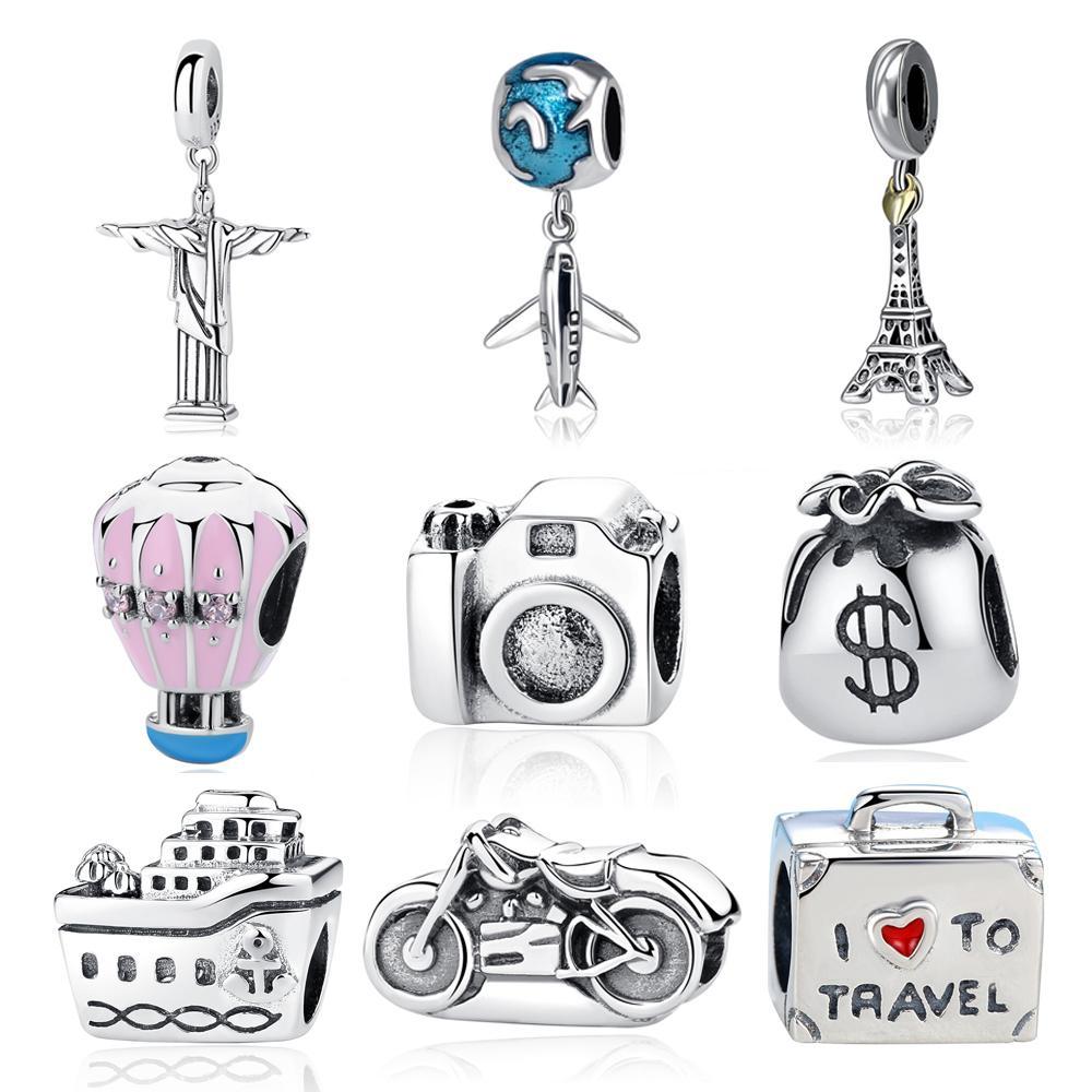 Avion de ligne Charme pour voyages souvenirs ou Jewelry Designs Argent Sterling