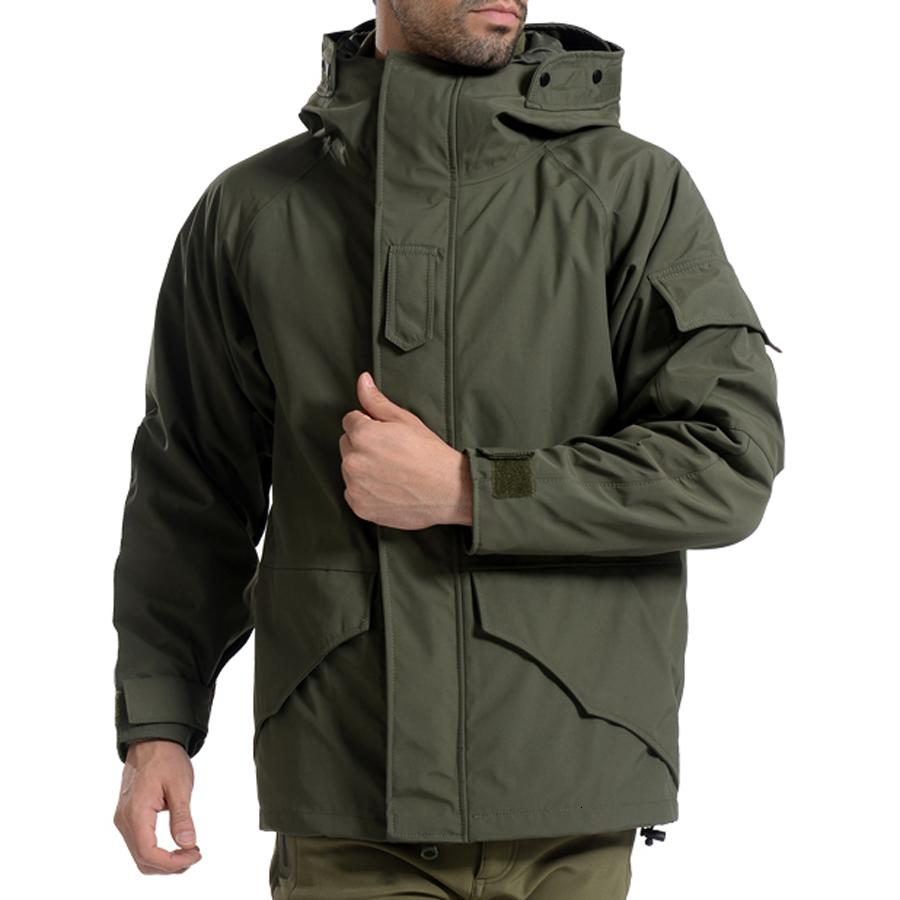 G8 Men Winter Camouflage thermal thick Coat + liner parka Military Tactical Hooded 2in1 Jacket Waterproof Hunting Hiking outwear T191013