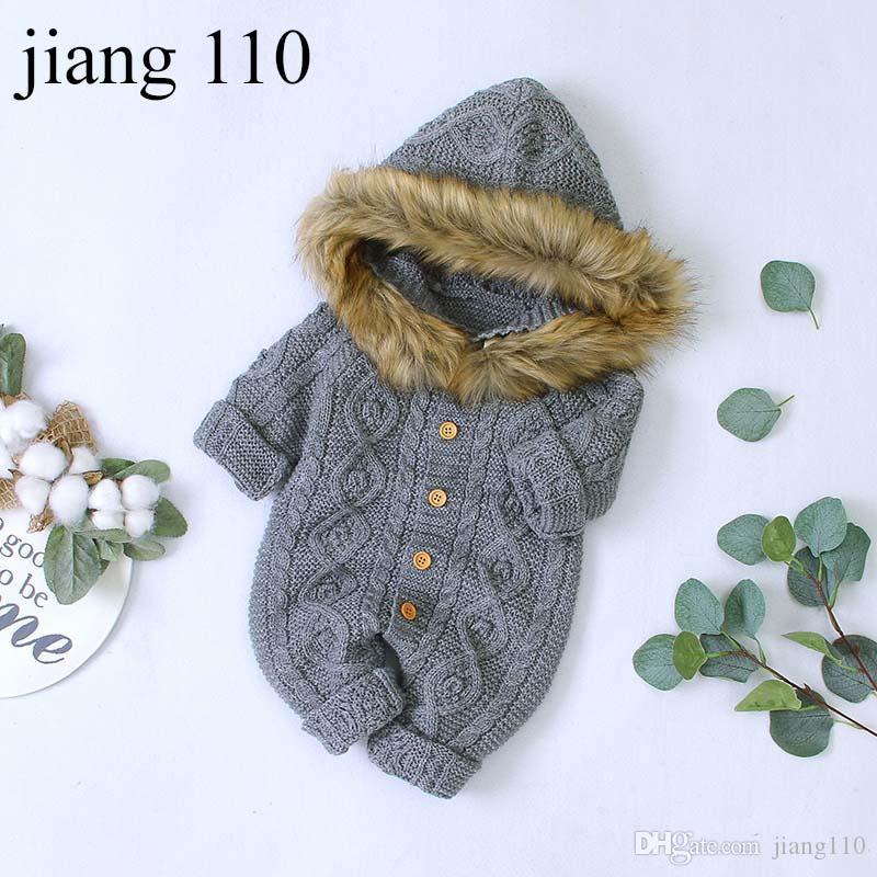 Primavera Autunno Inverno bambino delle tute della ragazza del neonato vestiti appena nati Warm delle tute Tuta infantile del bambino del pagliaccetto che coprono One Piece