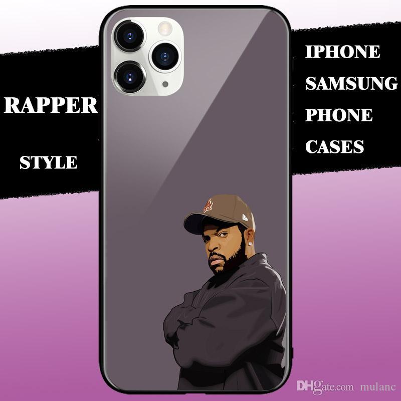 مشاهير مغني الراب حالات فون الهاتف الكبير مروحة تصميم لفون 11pro ماكس XR 6 7 8 زائد XS سامسونج note9 S10