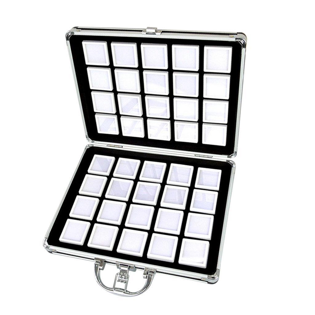 Top Quality 1 Pcs 5 X 5 CM Gem Display plastic box Storage for Gemstones...