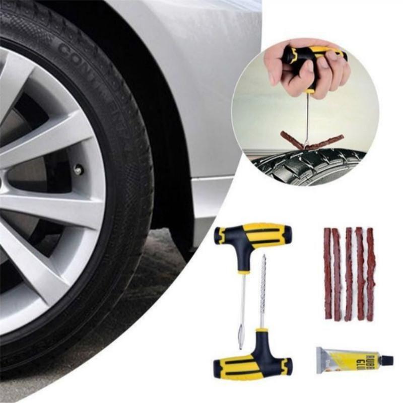 Auto Car Tire Repair Kit Car bicicleta Auto Moto Tubeless Pneu Puncture plug Repair Needle Ferramenta Kit Acessórios
