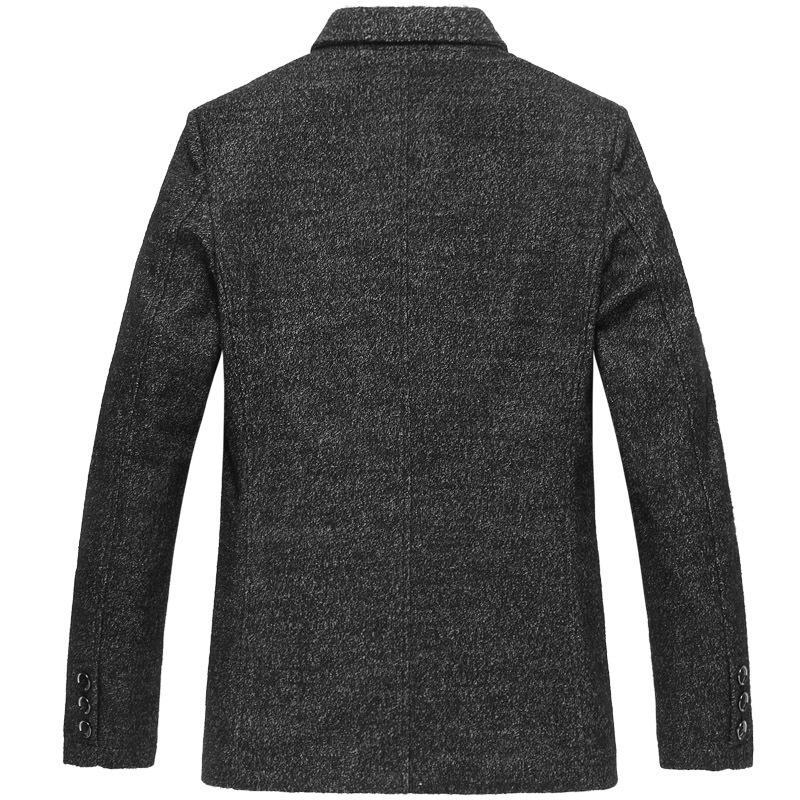 2020 New Arrival Fashion Large Mens Woolen Casual Suit Jacket Autumn Winter Men Blazer High Quality Plus Size SMLXL2XL3XL4XL5XL