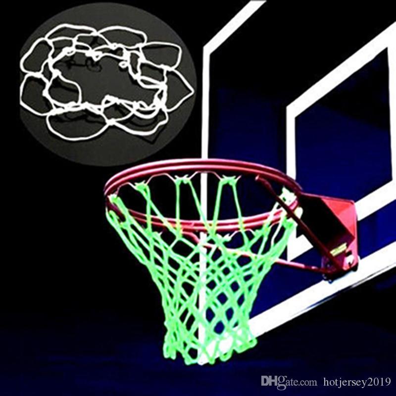 Glow In The Dark Basketball Hoop Net Luminous Shoot Training Sports Kid Gift TO