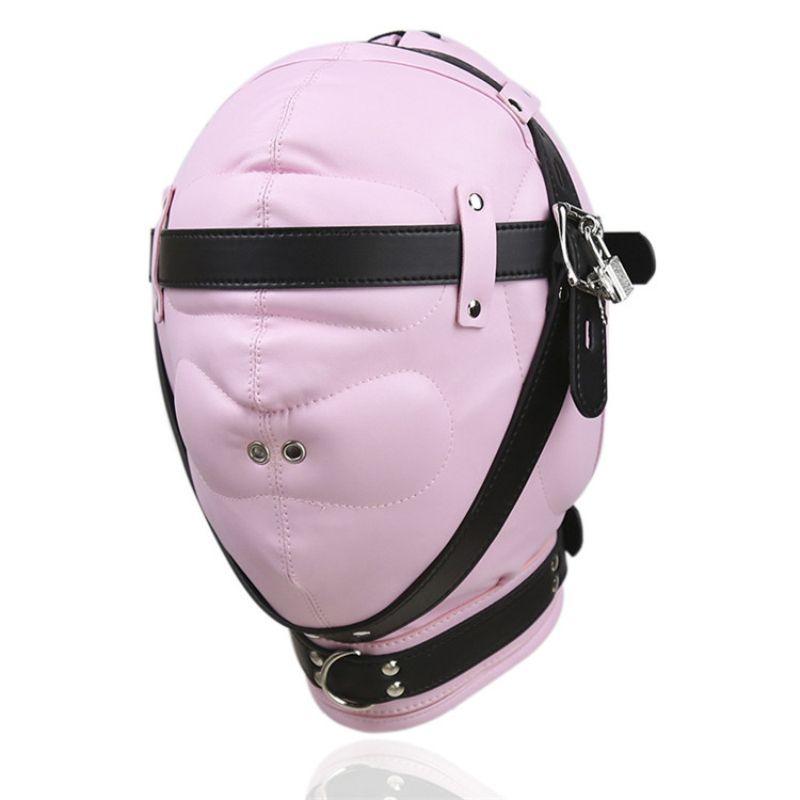 Masks Sex Fetish Male Cosplay Slave Choking Game Have Nose Show Face Mask Bondage Device for Men Women J10-1-71