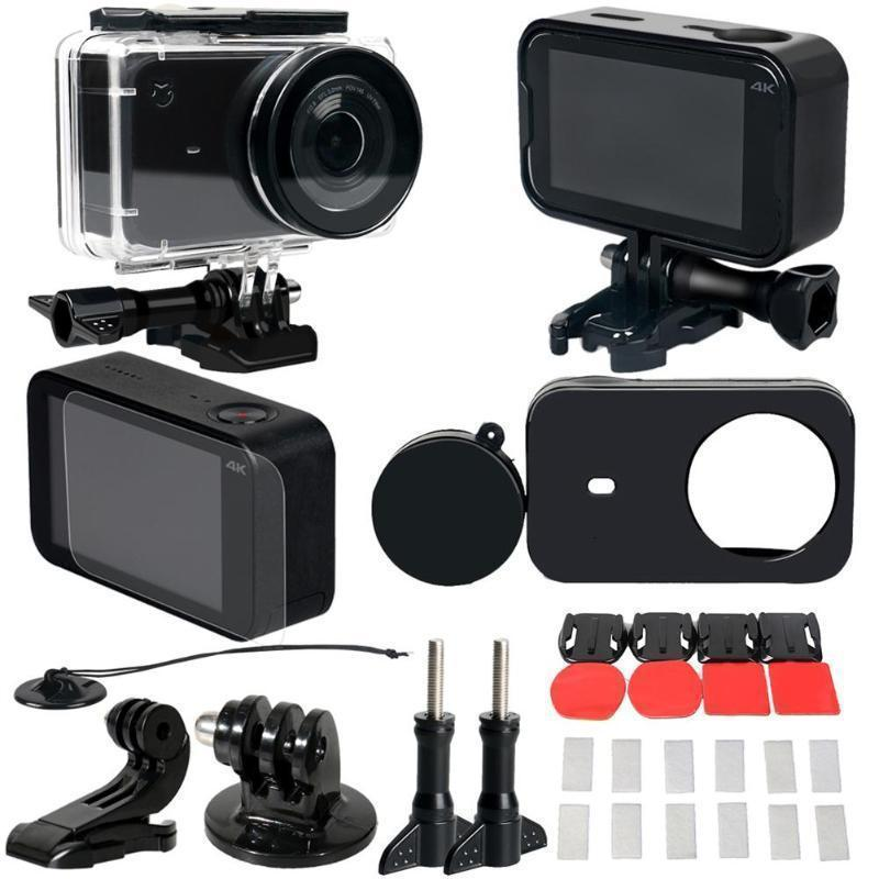 45M Underwater Waterproof Case Capa protetora Quadro Lens Cap Shell Film Adapter Protector for Camera Xiaomi Mijia Ação