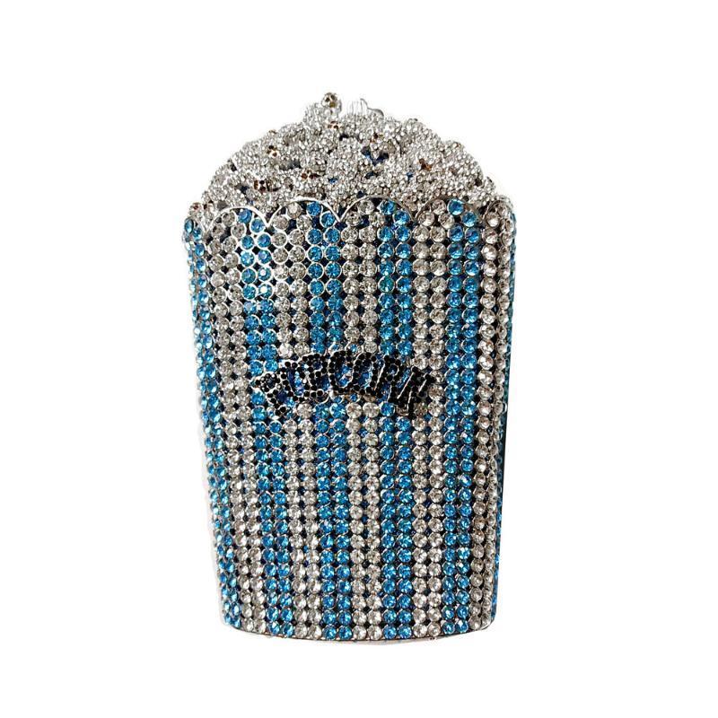 papas fritas francesas xiyuan bolsas cristalinos nupciales del bolso de noche las mujeres Embragues bolsos de las señoras del estuche rígido del metal del embrague de hombro