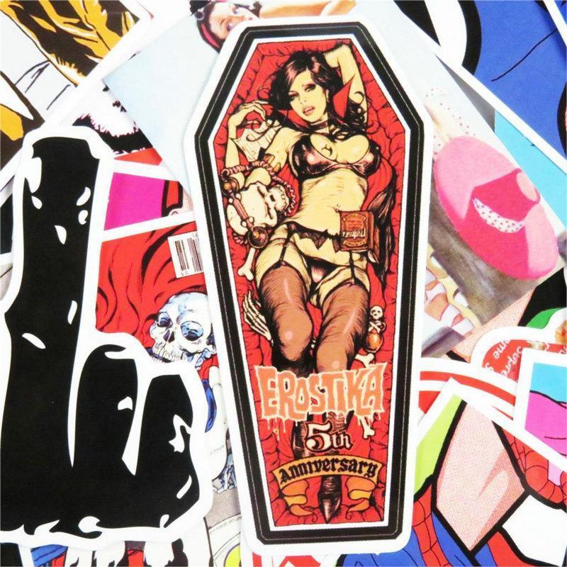 2016 Sexy Girls Sticker Pack nicht zu wiederholen Laptop Sticker Bomb Schönheit Pinup-Mädchen-Aufkleber-Abziehbilder für Auto-Gitarre Gepäck 71Du1W2Mpjl LdfXw