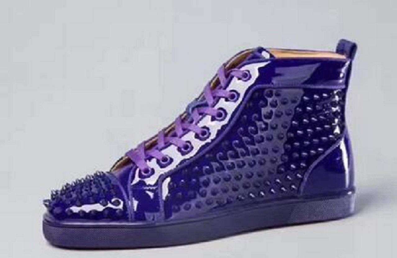 Mens moda de luxo, de couro azul mulheres designer de parte inferior vermelha de apartamentos de designer sapatilhas ocasionais para caminhadas - tamanho festa de casamento 35-47