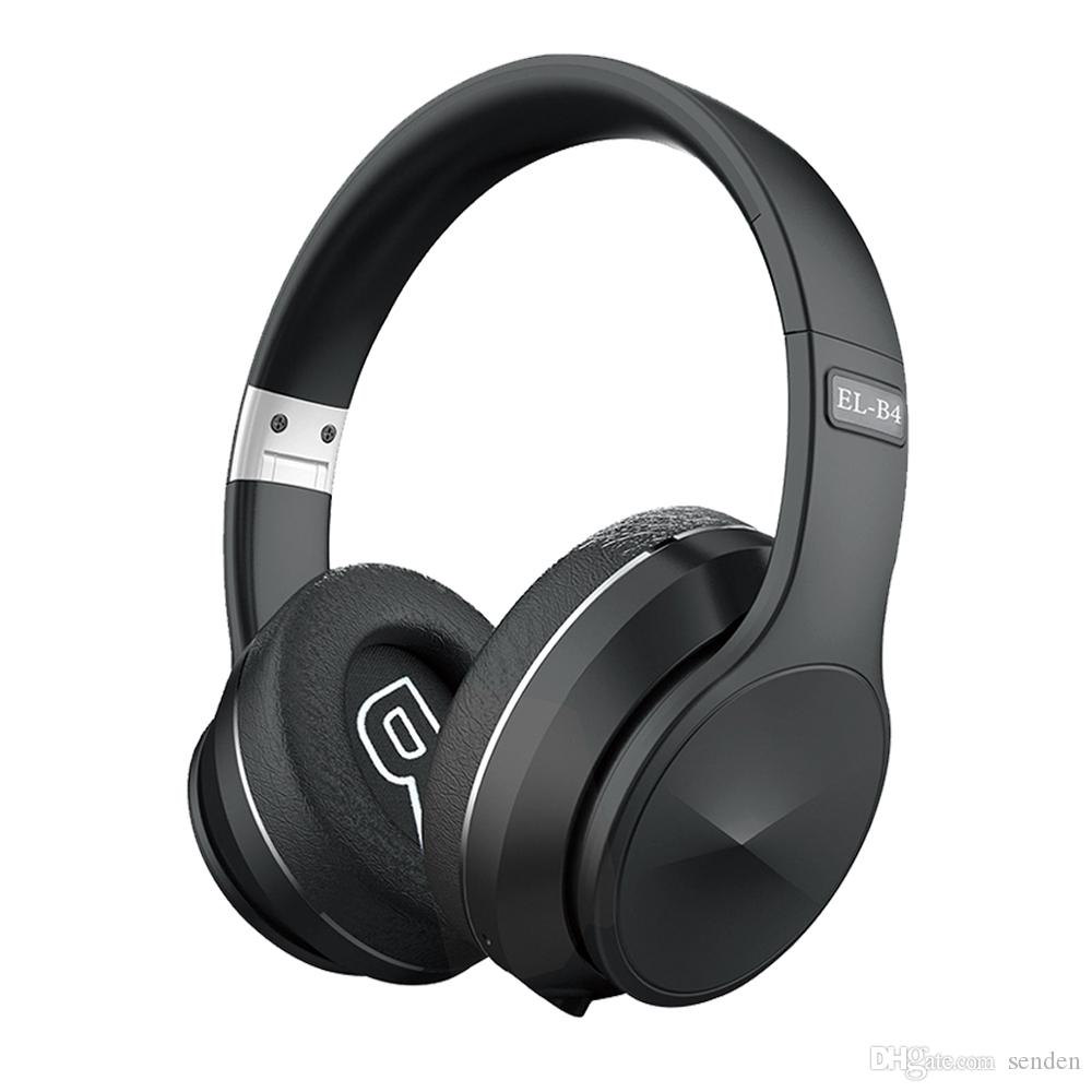 Top inalámbrica Bluetooth V5.0 Auriculares Head Mounted-Wireless auriculares plegable Deportes Gaming Headset auriculares compatibles con el teléfono inteligente B4