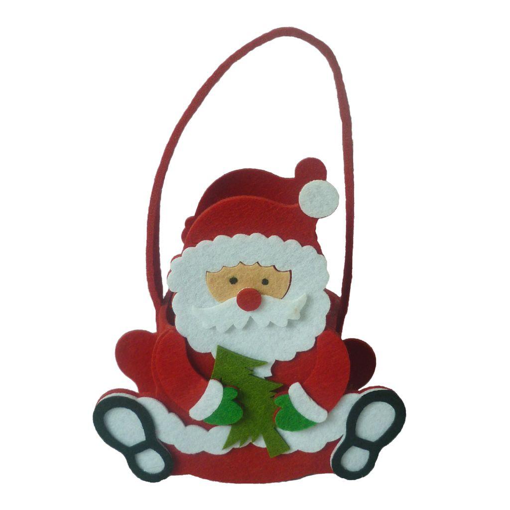 Christmas Candy-Einkaufstasche für Kinder Geschenk-Beutel Snack-Hand Dekor