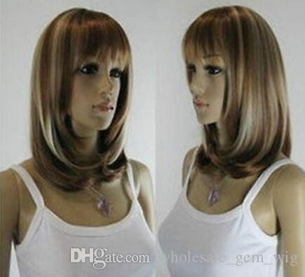 WIG LL Free Shipping >>>> Hot!!!New Medium fashion Straight Wig