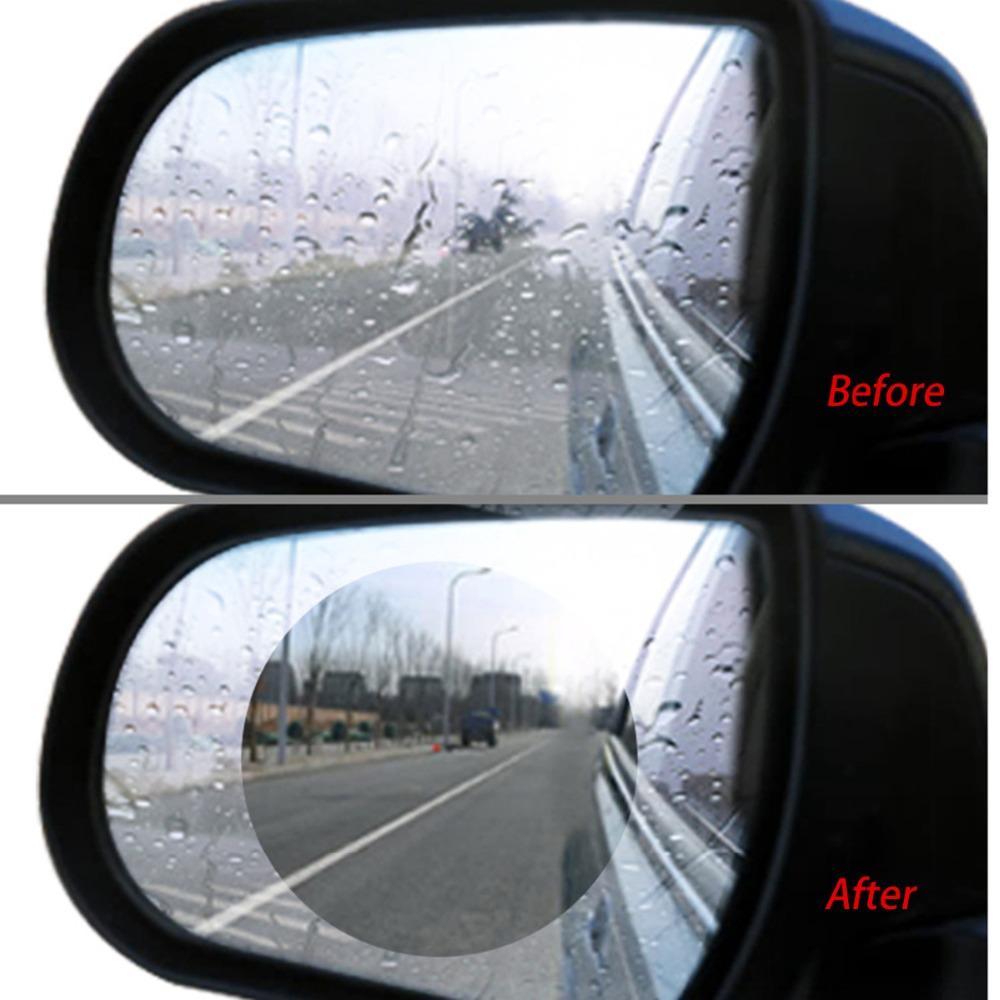 2pcs Regenfest Auto Rückspiegel Aufkleber Antibeschlag Schutz Folie Oval Shield