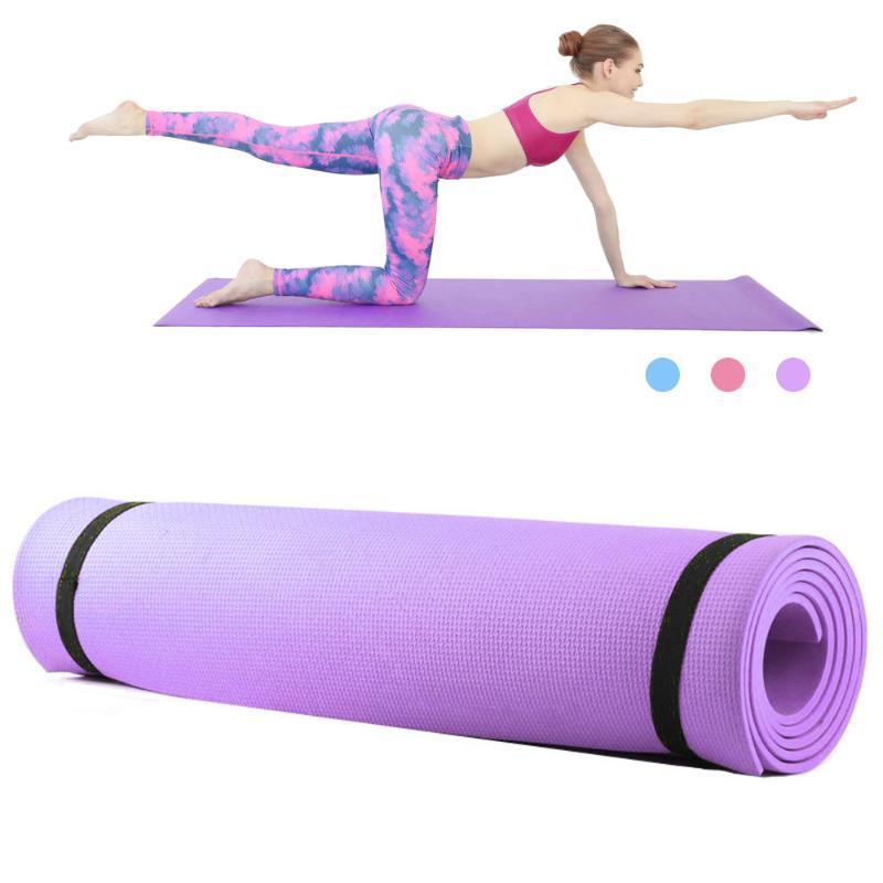 6mm tapis de yoga épais en mousse EVA tapis de yoga Antiderapant Pilates exercice de remise en forme 68X24 pouces exercice de fitness sports d'intérieur