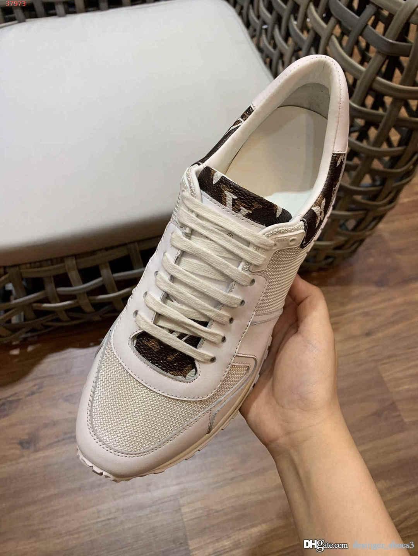 Легкие, дышащие кроссовки вкус моды белый и черный змеиной кожи с рисунком дизайн сплайсинга дышащие спорта мужчины обувь