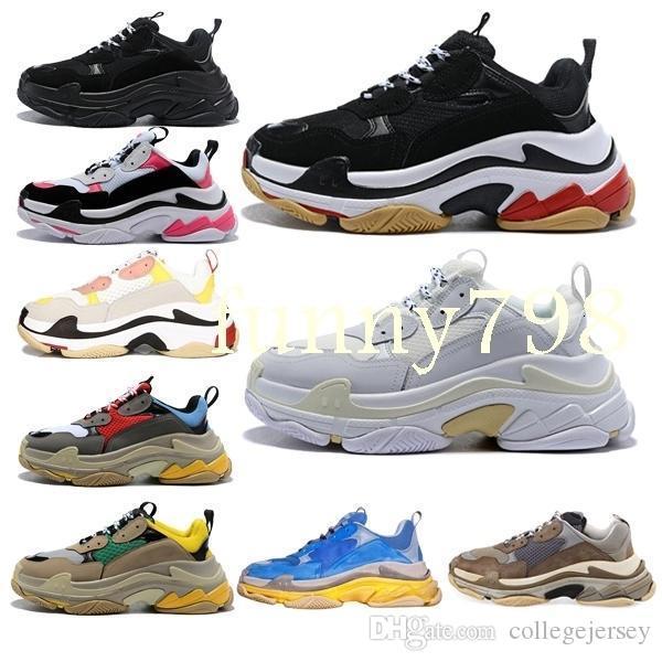 hot fashion design di lusso Uomini corridore dell'onda Donne triple s degli uomini di alta scarpe scarpe mens zapatos femmes Speed Trainer scarpe da tennis